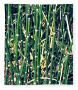 Snake Grass On The Beach Fleece Blanket