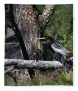 Snakebird At The Rookery Fleece Blanket
