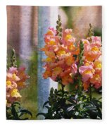 Snapdragons Fleece Blanket