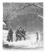 Snaring Rabbits, 1867 Fleece Blanket