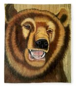 Snarling Grizzly Fleece Blanket