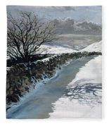 Snow Above Barbondale - Barbon Fleece Blanket