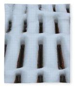 Snow Abstract 4 Fleece Blanket