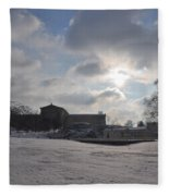 Snow At The Art Museum - Philadelphia Fleece Blanket