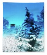 Snow Bow Fleece Blanket