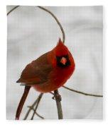 Snow Cardinal Fleece Blanket