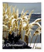 Snow Dust Christmas Card Fleece Blanket