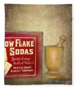 Snow Flake Soda Crackers Fleece Blanket