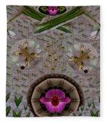 Snow Flowers And Orchids In Heavenly Wisdom Fleece Blanket