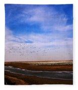 Snow Geese At Rest Fleece Blanket