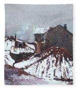 Snow In Elbasan Fleece Blanket