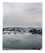 snow in port mahon - A very rare image of a mediterranean villa sided to sea covered of white Fleece Blanket