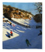 Snow In The Valley Fleece Blanket