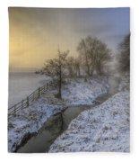 Snow Landscape Sunrise 2.0 Fleece Blanket