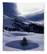 Snow Mountain Austria  Fleece Blanket