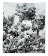 Snow On The Pines Fleece Blanket