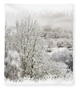 Snow Scene 1 Fleece Blanket