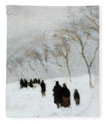 Snow Storm Fleece Blanket