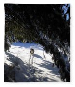 Snow Trail-under The Boughs Fleece Blanket