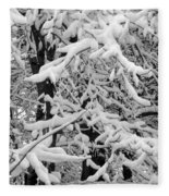 Snow Trees Fleece Blanket