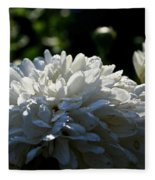 Snowball Dahlia Fleece Blanket