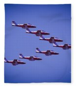 Snowbird V Formation Fleece Blanket