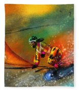 Snowboarding 03 Fleece Blanket