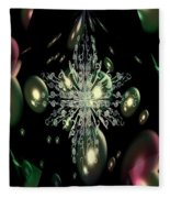 Snowflake Bubble Glass Fleece Blanket