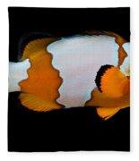 Snowflake Clownfish Fleece Blanket