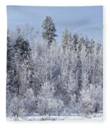 Snows Hit Again In Early Spring Fleece Blanket