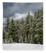 Snowstorm In The Cascades Fleece Blanket