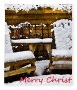 Snowy Coffee Holiday Card Fleece Blanket