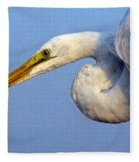 Snowy Egret Ready Fleece Blanket