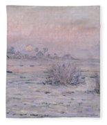 Snowy Landscape At Twilight Fleece Blanket