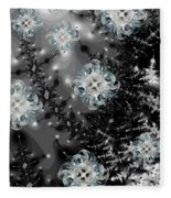 Snowy Night IIi Fractal Fleece Blanket