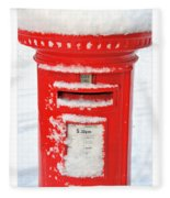 Snowy Pillar Box Fleece Blanket