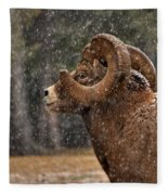 Snowy Ram Fleece Blanket