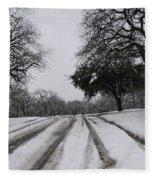 Snowy Road Fleece Blanket