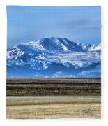 Snowy Rockies Fleece Blanket