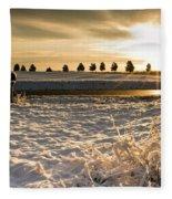 Snowy Sunrise Fleece Blanket