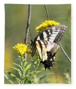 So Fragile - Butterfly Fleece Blanket