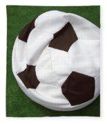 Soccer Ball Seat Cushion Fleece Blanket