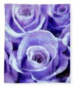 Soft Lavender Roses Fleece Blanket