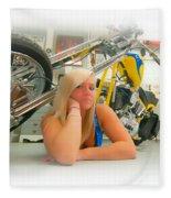 Soft N Sweet Harley Chopper  Fleece Blanket
