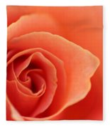 Soft Rose Petals Fleece Blanket