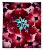 Soft Scarlet Floral Fleece Blanket