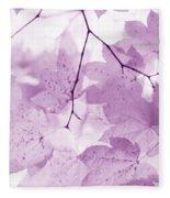Softness Of Violet Maple Leaves Fleece Blanket