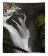 Sol Duc Falls Fleece Blanket