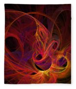 Solar Flares Fleece Blanket