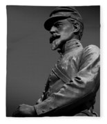 Soldier In Bronze  Fleece Blanket